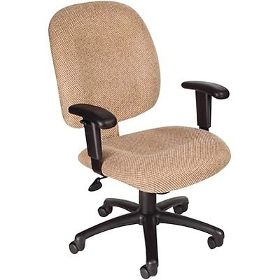 Lincolnshire Seating B495 Series Fabric Task Chair With Adjustable Arms; Chestnut