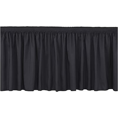 National Public Seating® 32Hx4W Shirred Stage Skirts; Black
