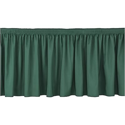 National Public Seating® 32Hx4W Shirred Stage Skirts; Green