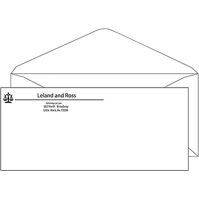 #10 1-Color Economy Envelope Without Window; V-Flap