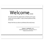 Medical Arts Press® Professional Custom Courtesy Cards; Welcome, White