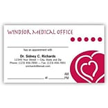 Medical Arts Press® Medical Full-Color Appointment Cards; Hearts