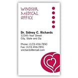 Medical Arts Press® Medical Color Choice Business Cards; Hearts