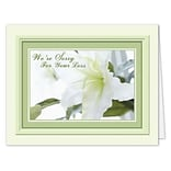 Medical Arts Press® Sympathy Greeting Cards; White Flower, Personalized