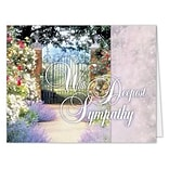 Medical Arts Press® Sympathy Greeting Cards;  With Deepest Sympathy, Personalized, 100 Cards