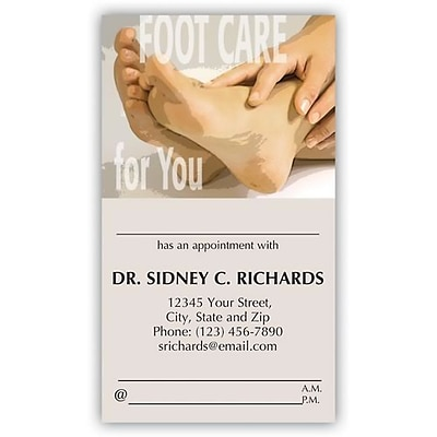 Medical Arts Press® Podiatry Full-Color Appointment Cards; Foot Care