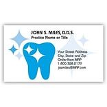 Classic Crest® Dental Design Choice Dental Business Cards; Sparkle Tooth