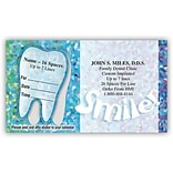 Medical Arts Press® Dual-Imprint Peel-Off Sticker Appointment Cards; Smile, Confetti