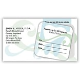 Medical Arts Press® Dual-Imprint Peel-Off Sticker Appointment Cards; Green, Wave