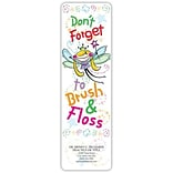 Dont Forget Brush & Floss Dental Bookmark