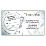 Medical Arts Press® Dual-Imprint Peel-Off Sticker Appointment Cards; Time for You