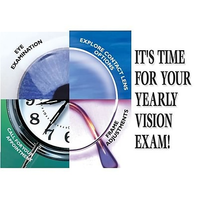Medical Arts Press® Eye Care Laser Postcards; Its Time for Your Yearly Vision Exam