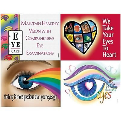 Medical Arts Press® Eye Care Assorted Laser Postcards; Traditional Eyecare Slogans