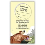 Medical Arts Press® Dual-Imprint Peel-Off Sticker Appointment Cards; Reminder Bear