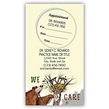 Medical Arts Press® Dual-Imprint Peel-Off Sticker Appointment Cards; We Care Bear