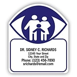 Medical Arts Press® Eye Care Die-Cut Magnets; 2-1/4x2-1/2, Family in Eye