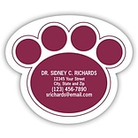 Medical Arts Press® Veterinary Die-Cut Magnets; 3x2-1/2, Large Paw Print
