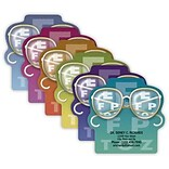 Medical Arts Press® Eye Care Die-Cut Magnets; 3x3, Eyeglasses on Eye Chart, Assorted