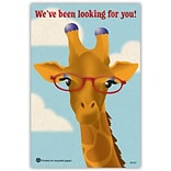 Medical Arts Press® Eye Care Recycled Postcards; Giraffe Glasses
