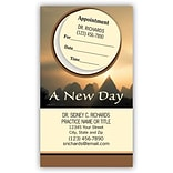 Medical Arts Press® Dual-Imprint Peel-Off Sticker Appointment Cards; New Day