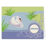 Medical Arts Press® Welcome Cards; Swan, Blank Inside