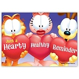 Garfield Standard 4x6 Postcards; Hearty Healthy Reminder