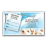 Medical Arts Press® Dual-Imprint Peel-Off Sticker Appointment Cards; Feather