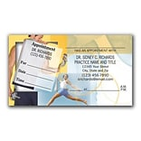 Medical Arts Press® Dual-Imprint Peel-Off Sticker Appointment Cards; Lift Weights
