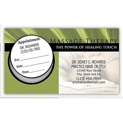 Medical Arts Press® Dual-Imprint Peel-Off Sticker Appointment Cards; Healing Touch