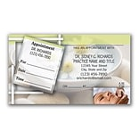 Medical Arts Press® Dual-Imprint Peel-Off Sticker Appointment Cards; Water, Rocks