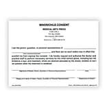 Medical Arts Press® Minor or Childs Consent Forms; Medical