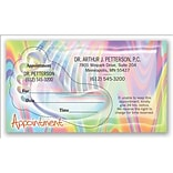 Medical Arts Press® Dual-Imprint Peel-Off Sticker Appointment Cards; Foot on Multicolor Background