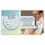 Medical Arts Press® Dual-Imprint Peel-Off Sticker Appointment Cards; Cat & Girl