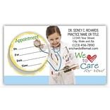 Medical Arts Press® Single-Imprint Peel-Off Sticker Appointment Cards; Child/Doctor