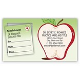 Medical Arts Press® Dual-Imprint Peel-Off Sticker Appointment Cards; Apple