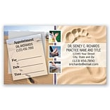 Medical Arts Press® Dual-Imprint Peel-Off Sticker Appointment Cards; Foot in Sand