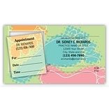 Medical Arts Press® Dual-Imprint Peel-Off Sticker Appointment Cards; Blue Foot
