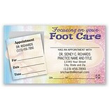 Medical Arts Press® Dual-Imprint Peel-Off Sticker Appointment Cards; Foot Care