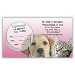 Medical Arts Press® Dual-Imprint Peel-Off Sticker Appointment Cards; Dog/Cat
