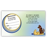 Medical Arts Press® Dual-Imprint Peel-Off Sticker Appointment Cards; Blue Dog