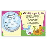 Medical Arts Press® Dual-Imprint Peel-Off Sticker Appointment Cards; For Your Pet