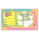 Medical Arts Press® Dual-Imprint Peel-Off Sticker Appointment Cards; Paw TV