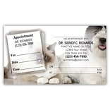 Medical Arts Press® Dual-Imprint Peel-Off Sticker Appointment Cards; Cat/Dog