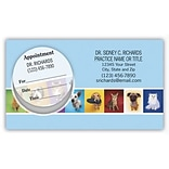 Medical Arts Press® Dual-Imprint Peel-Off Sticker Appointment Cards; Pets