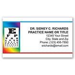 Medical Arts Press® Eye Care Business Card Magnets; Rainbow Eye Chart