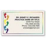 Medical Arts Press® Podiatry Business Card Magnets; Rainbow Feet
