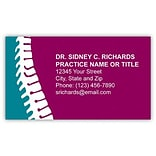 Medical Arts Press® Chiropractic Business Card Magnets; Turquois/Burgundy Spine