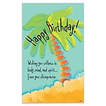 Medical Arts Press® Chiropractic Oversized Postcards; Palm Tree Birthday