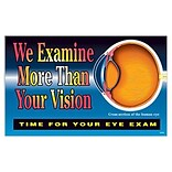 Medical Arts Press® Eye Care Oversized Postcards; Examine Vision