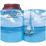 Custom Printed Full-Color Collapsible Koozie®; Sailboat